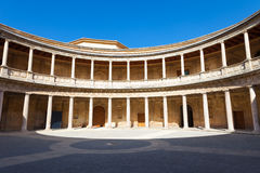 Alhambra de Granada. Court of the Carlos V palace Royalty Free Stock Photos