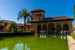 Alhambra de Granada, España - 23 de junio de 2017: EL Partal Una c grande imagen de archivo libre de regalías