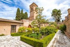 Alhambra de Granada gardens Stock Image