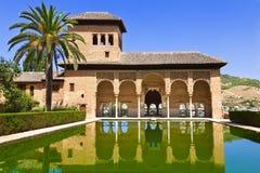 Alhambra DE Granada: Het paleis van Gr Partal stock foto