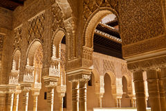 Alhambra de Granada moorish arches Royalty Free Stock Photo