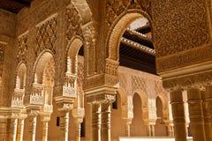Alhambra de Granada moorish arches royalty free stock photo