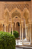 Alhambra de Granada moorish arches Royalty Free Stock Photography