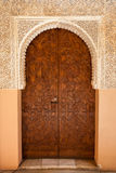 Alhambra de Granada: Moorish ornated door. In the Court of the Lions (Patio de los leones Royalty Free Stock Photo