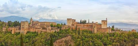 Alhambra de Granada Panorama Stock Photo