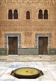 Alhambra de Granada. Patio de Comares Fotografía de archivo