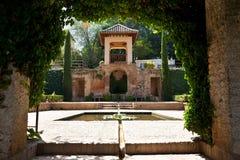 Alhambra de Granada: pavilion in the gardens Royalty Free Stock Image
