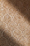 Alhambra de Granada: relief detail. Arabic relief in Nasrid Palaces Stock Photography