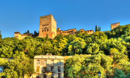 Alhambra de Granada - Spanien Royaltyfria Bilder