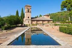 alhambra de trädgård granada Royaltyfria Bilder