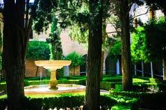 Alhambra- de Tuin van de Binnenplaats Stock Foto