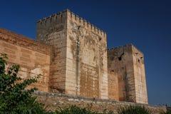 Alhambra defensive walls, Granada Royalty Free Stock Photography