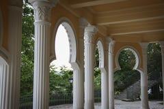 alhambra detaljer Arkivfoton