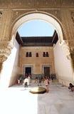 alhambra doradouteplats Arkivbild