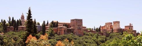 Alhambra e Generalife a Granada, Spagna Fotografie Stock Libere da Diritti