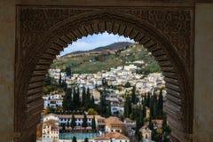 Alhambra en Albaizin Stock Afbeeldingen