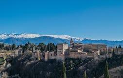 Alhambra en Granada, España Fotografía de archivo libre de regalías