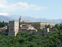 Alhambra en Granada, España Imágenes de archivo libres de regalías