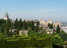 Alhambra en Granada, España Fotografía de archivo