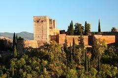 Alhambra en la puesta del sol Fotografía de archivo libre de regalías