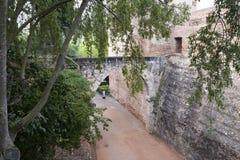 Alhambra Entrance Cuesta de los Chino fotografering för bildbyråer