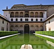 alhambra espa Γρανάδα Στοκ Εικόνα