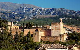 Alhambra at the evening Stock Photography