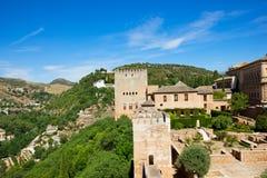 alhambra fästning royaltyfri bild