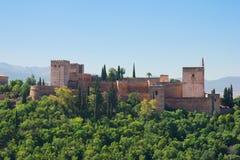 alhambra fästning spain arkivfoton