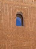 alhambra fönster Fotografering för Bildbyråer