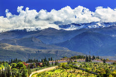 Alhambra Farm Mountains Granada Andalusia España Imagenes de archivo