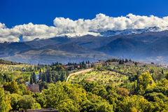 Alhambra Farm Mountains Granada Andalusia Spain Royalty Free Stock Photos