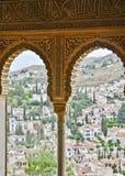 Alhambra-Fenster Stockbilder