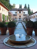 Alhambra Formal Garden Stock Photo