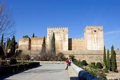 alhambra forntida arkitekturslott spain Royaltyfri Foto