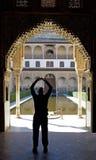 alhambra forntida dörrslott spain Arkivfoton