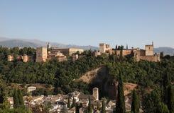 Alhambra fortfress. Granada Spanien arkivfoto