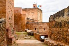 Alhambra fortress day view, Granada, Espana Stock Photography