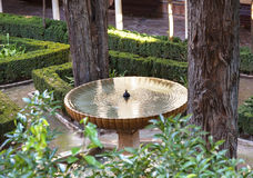 Alhambra Fountain Garden Granada Andalusia Spain Stock Images