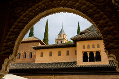 Alhambra framed Royalty Free Stock Images