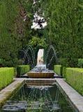 Alhambra garden fountain Royalty Free Stock Photos