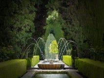 Alhambra garden fountain Stock Photo
