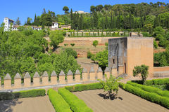 Alhambra garden in Granada, Andalusia, Spain Royalty Free Stock Photography