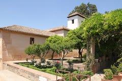 Alhambra garden Stock Photos