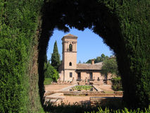 Alhambra Gardens. The gardens of the Alhambra Palace in Granada, Spain Stock Photos