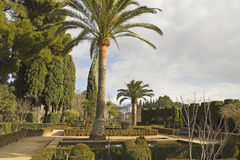 Alhambra gardens Royalty Free Stock Image