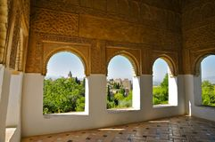 Alhambra Gardens, Granada, Spagna del sud immagini stock