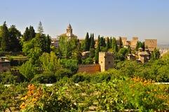 Alhambra Gardens, Granada, Spagna del sud fotografie stock libere da diritti