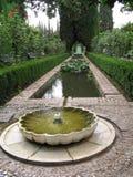 alhambra generalife Royaltyfri Bild