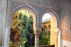 Alhambra Generalife am Sommer Spanisch, Architektur Stockbild